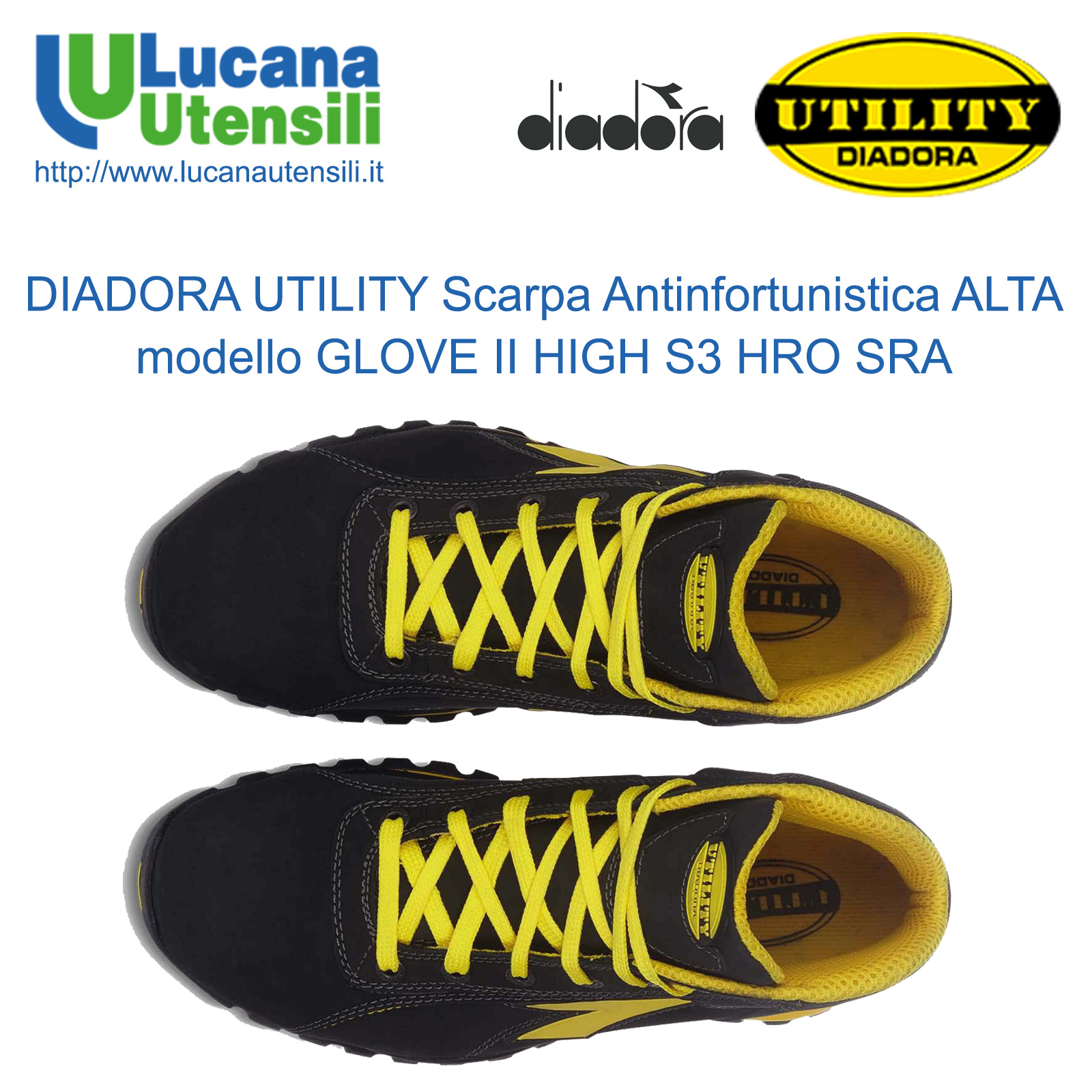 DIADORA UTILITY SCARPA ANTINFORTUNISTICA ALTA modello GLOVE II HIGH S3 ... fe52a4d2bd9