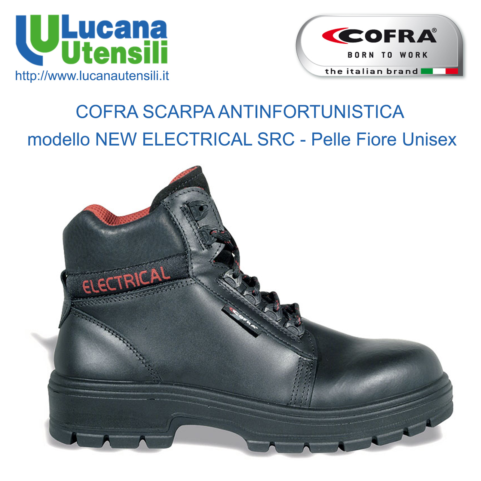 COFRA SCARPA ANTINFORTUNISTICA modello NEW ELECTRICAL SRC – Pelle ... c967fce1eec