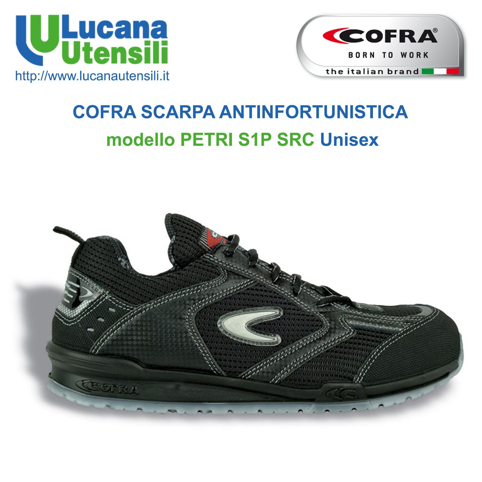 nuovi speciali gamma molto ambita di scarpe temperamento COFRA SCARPA ANTINFORTUNISTICA modello PETRI S1P SRC - Running - Unisex -  Lavoro