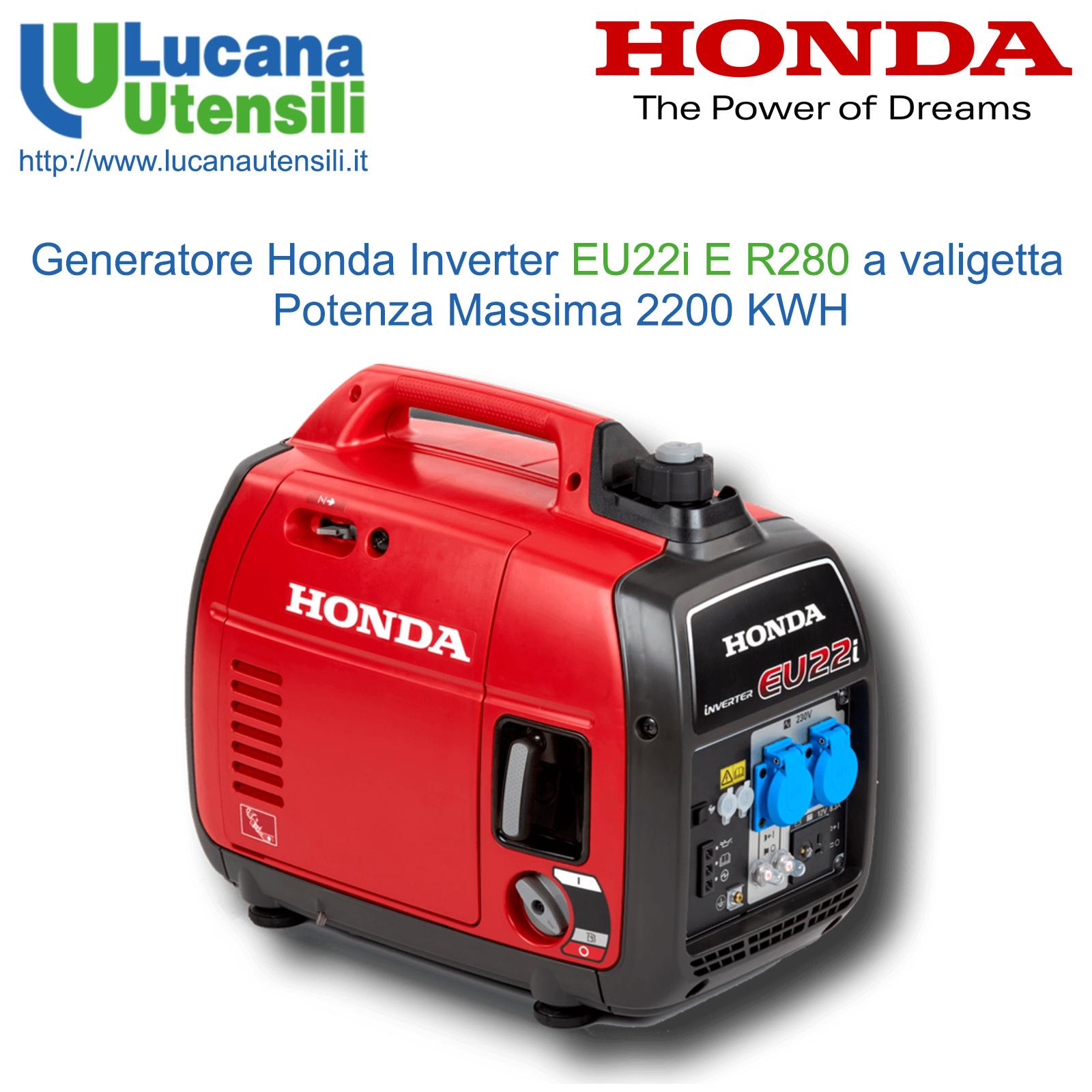 Honda generatore inverter silenziato 2 2kw modello eu22i e for Generatore di corrente honda usato