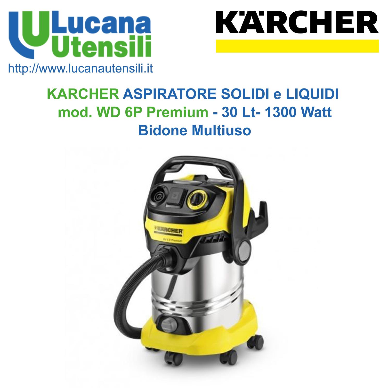 1300 W K/ärcher WD 6 P Premium Aspirapolvere multiuso