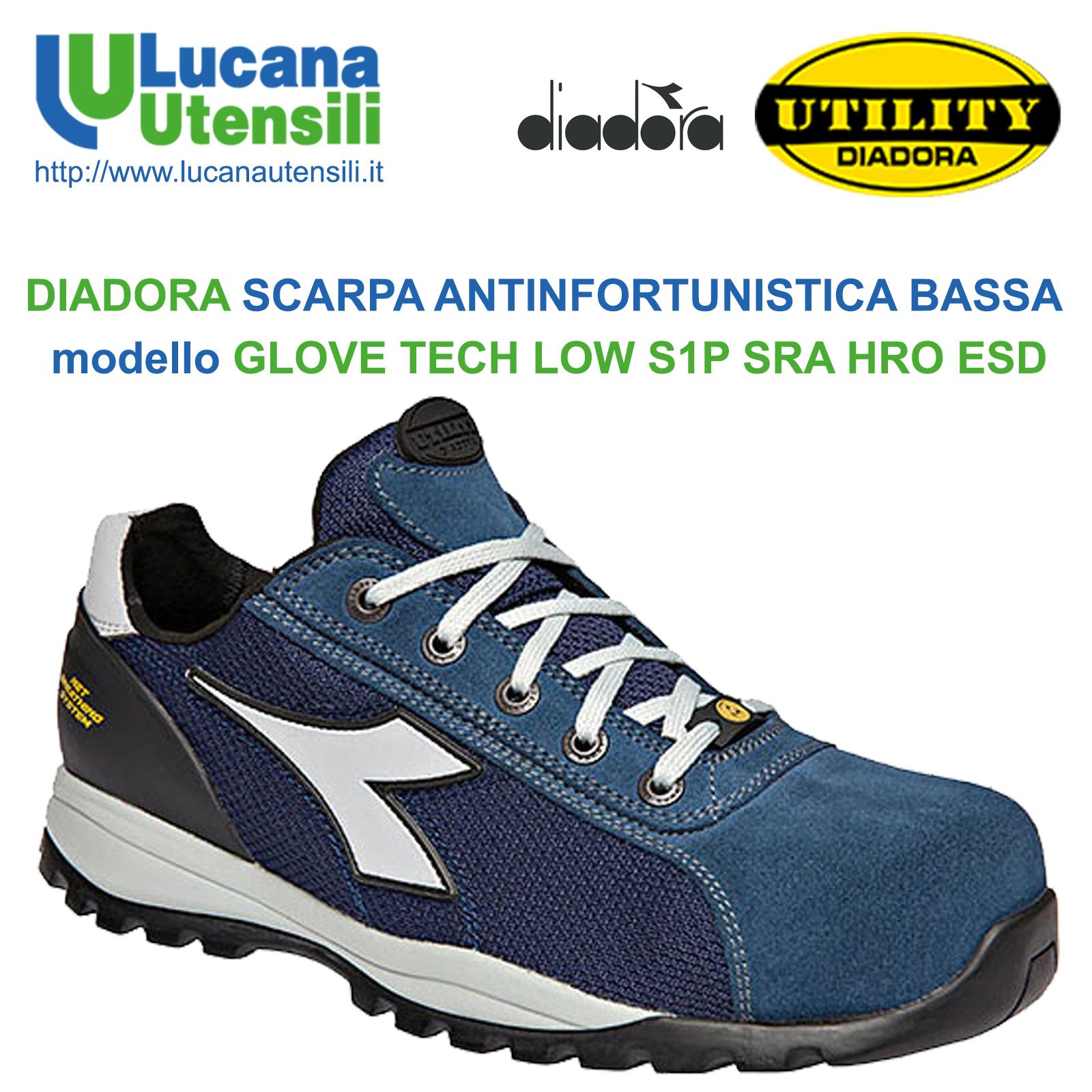 DIADORA SCARPA ANTINFORTUNISTICA con SISTEMA GEOX modello GLOVE TECH ... f3b9f452028