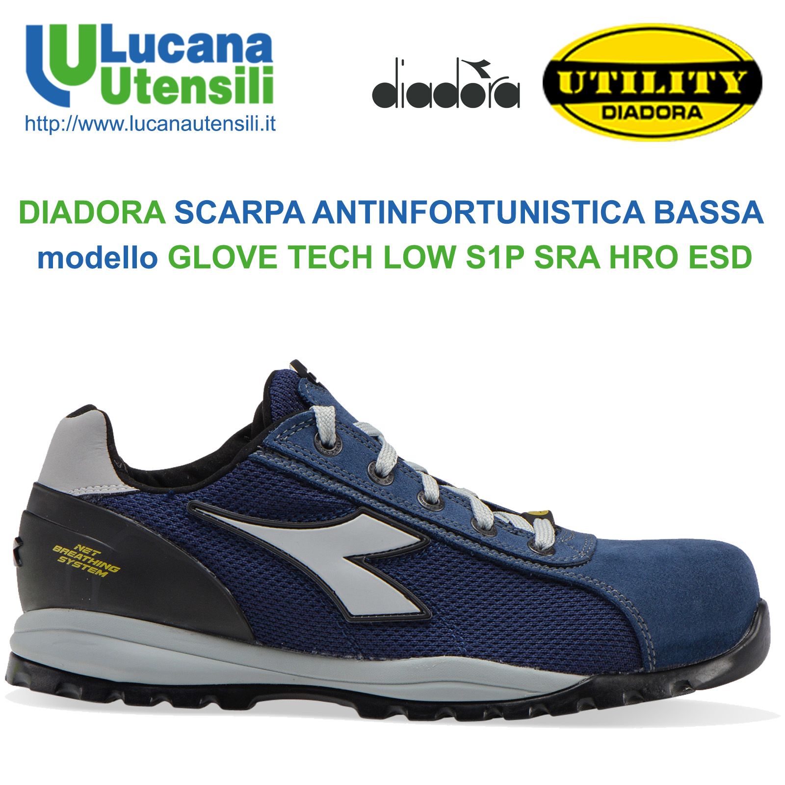 Diadora GLOVE TEXT II S1P SRA HRO Scarpe