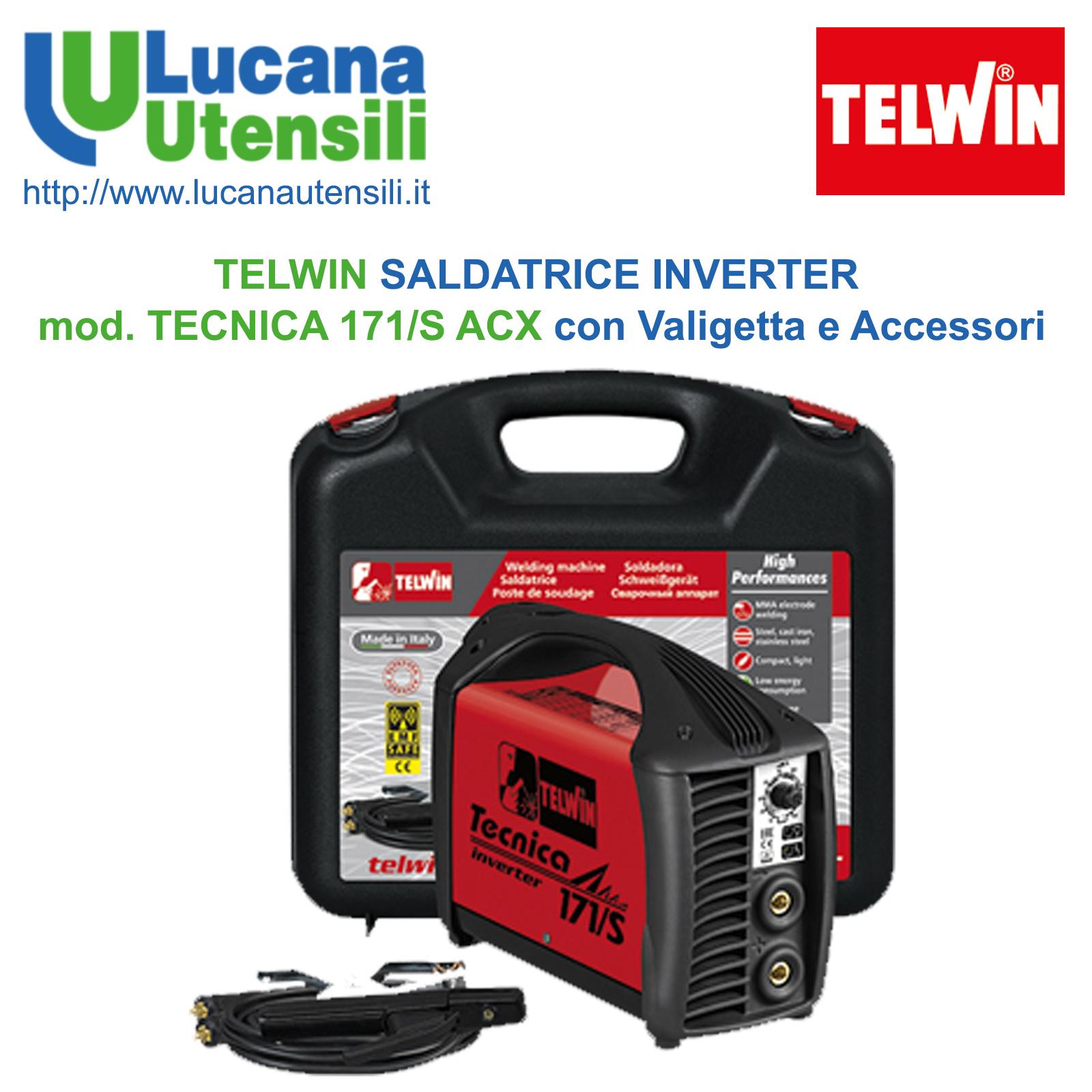 ACCESSORI E VALIGETTA IN PLASTICA SALDATRICE INVERTER TELWIN TECNICA 171//S 230V