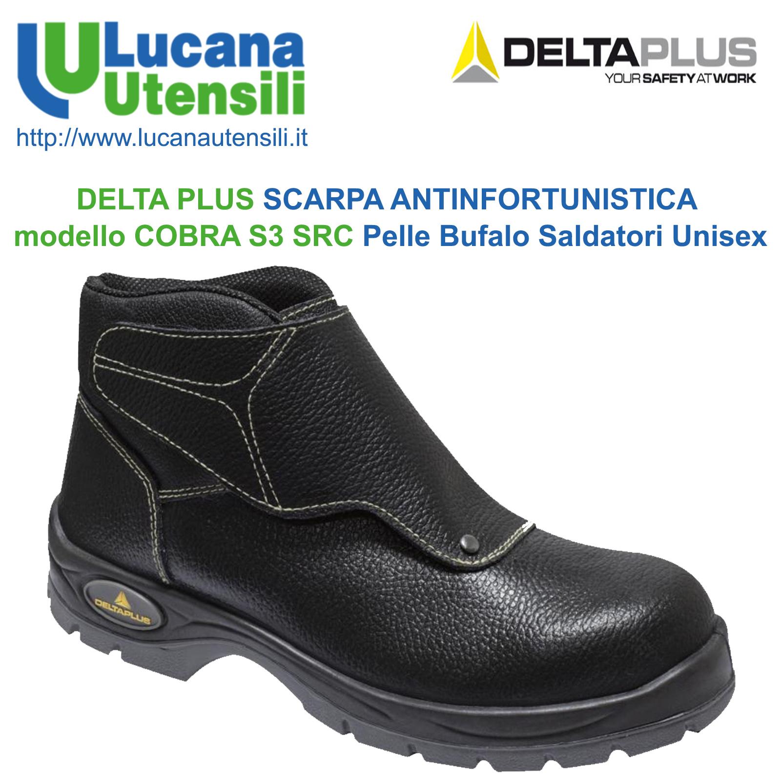 69da5f20c DELTA PLUS SCARPA ANTINFORTUNISTICA modello COBRA S3 SRC in Pelle per  Saldatori ...