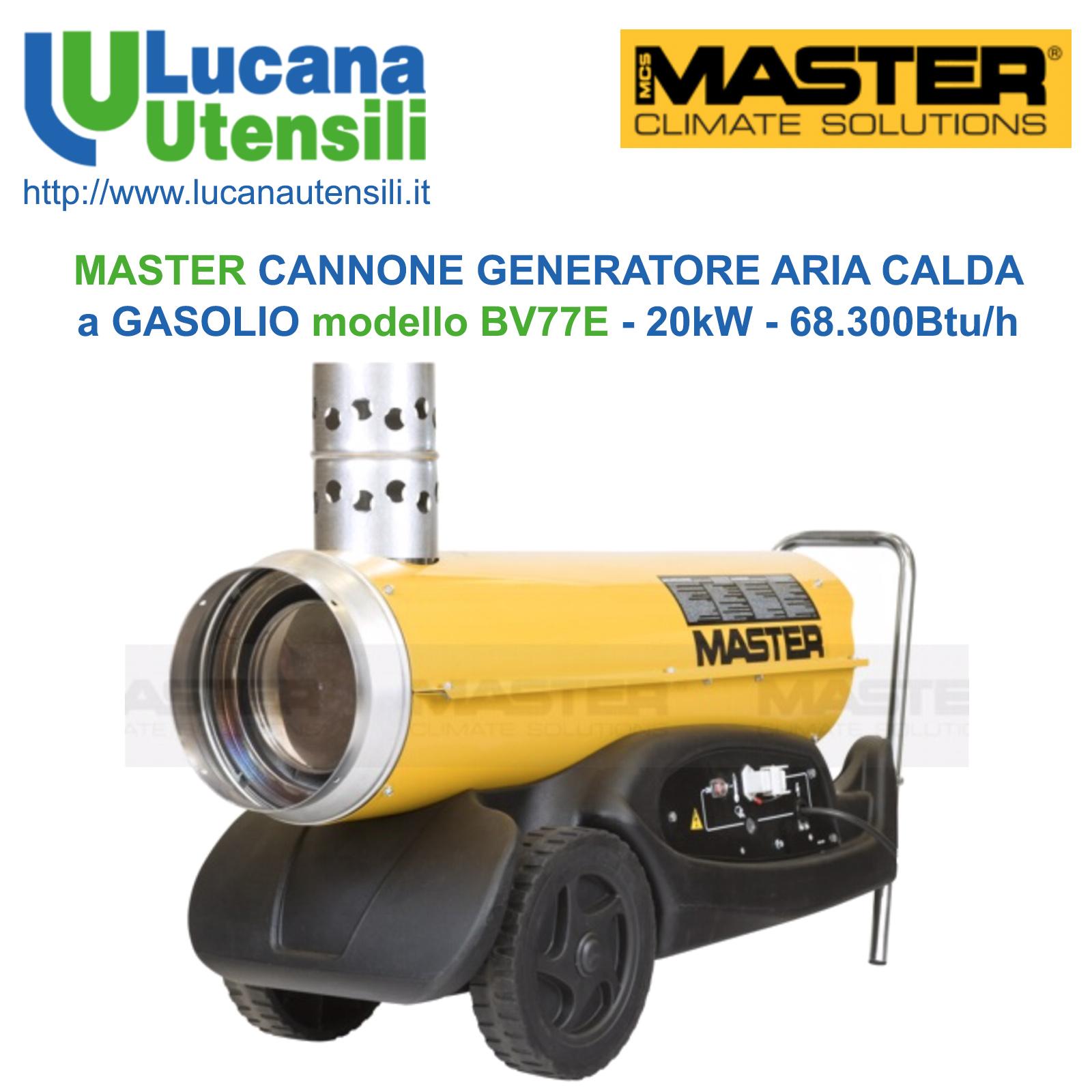 MASTER CANNONE GENERATORE ARIA CALDA A GASOLIO