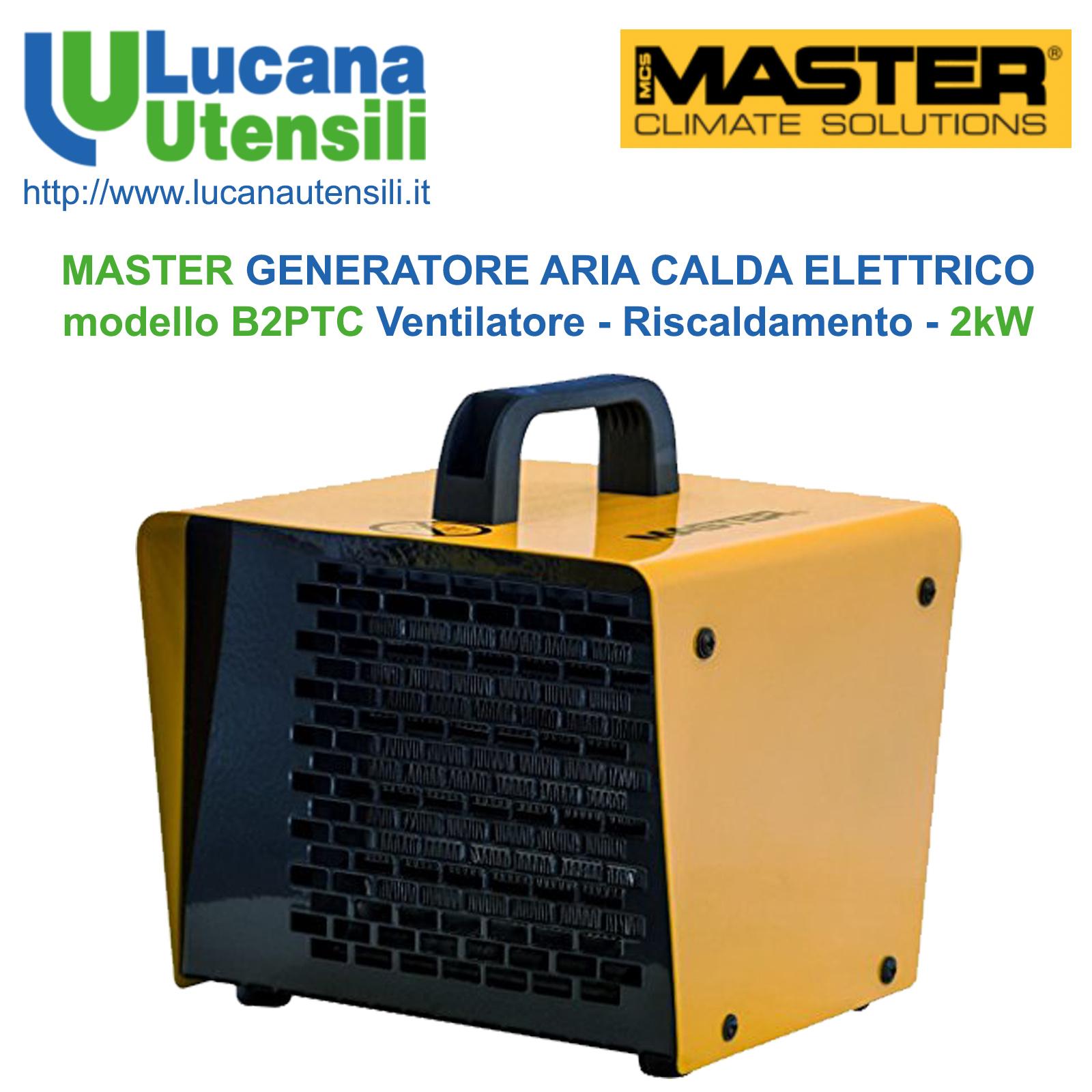 Riscaldamento Elettrico Ad Aria.Master Generatore Aria Calda Elettrico Modello B2ptc Ventilare