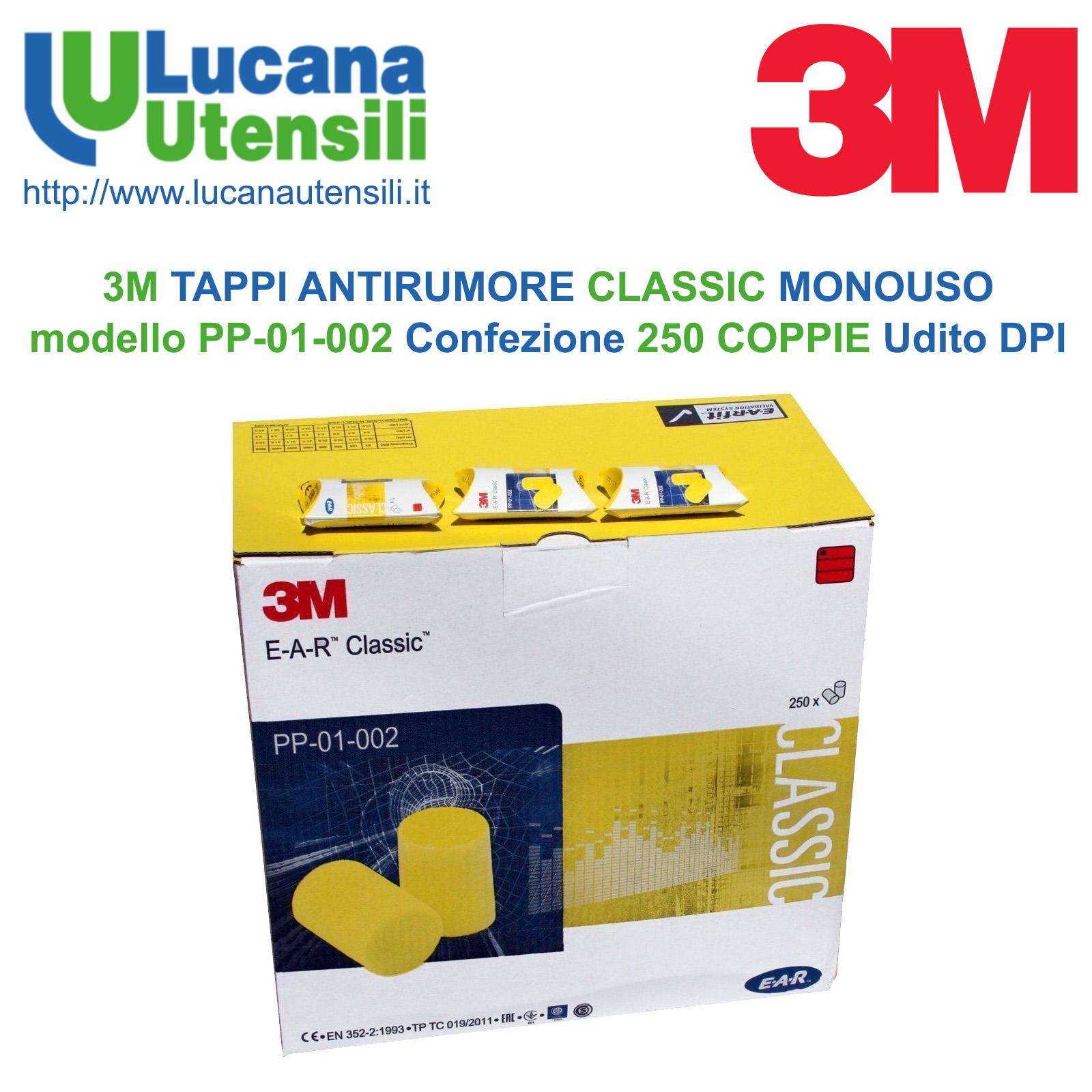 cerca il meglio grandi affari sulla moda acquista originale 3M TAPPI ANTIRUMORE CLASSIC MONOUSO modello PP-01-002 in CONFEZIONE da 250  COPPIE - Udito - DPI