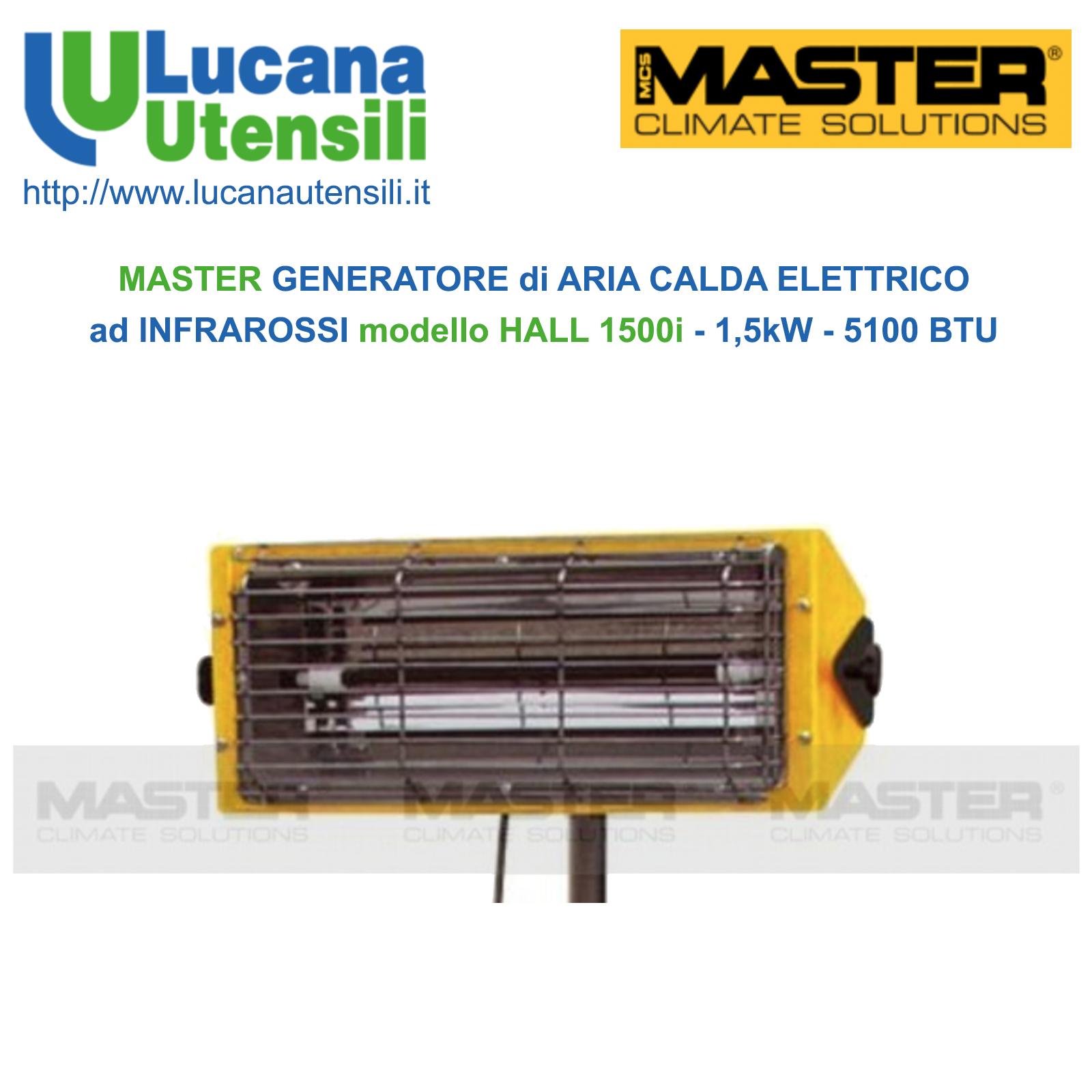 Riscaldamento Elettrico Ad Aria.Master Generatore Di Aria Calda Elettrico Ad Infrarossi Modello Hall