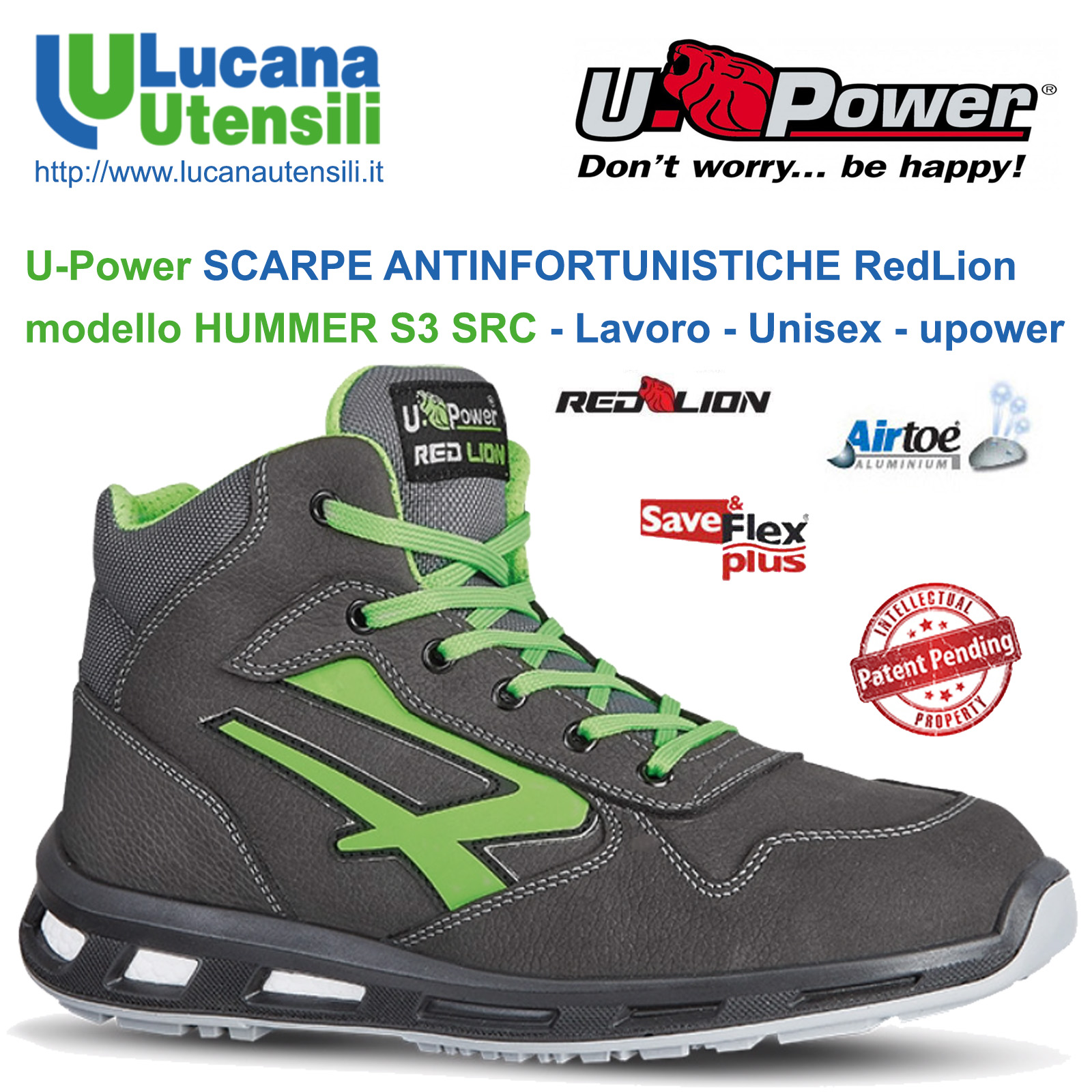 U POWER SCARPA ANTINFORTUNISTICA modello HUMMER S3 SRC