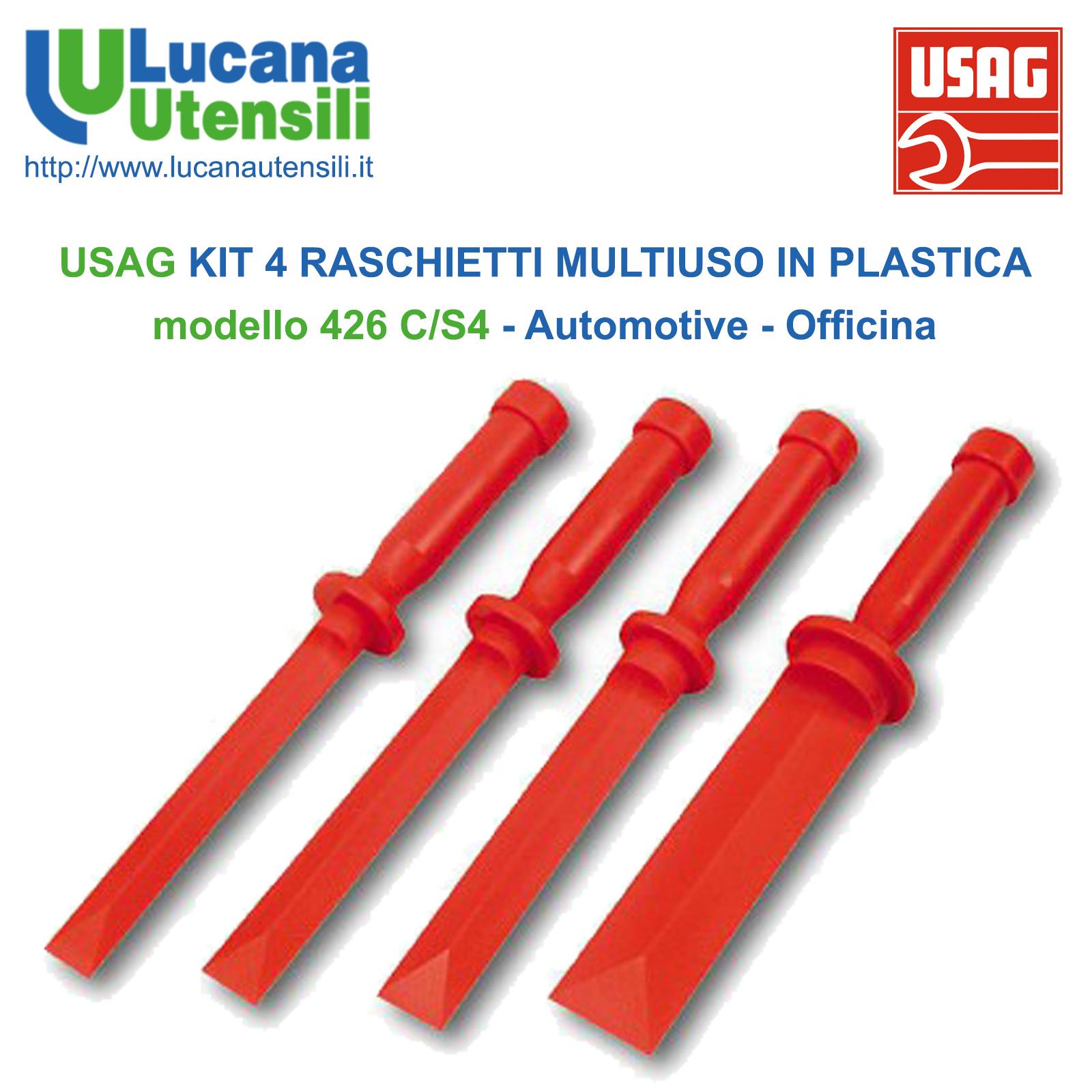 USAG KIT 4 RASCHIETTI MULTIUSO IN PLASTICA modello 426 C//S4 Automotive Officina