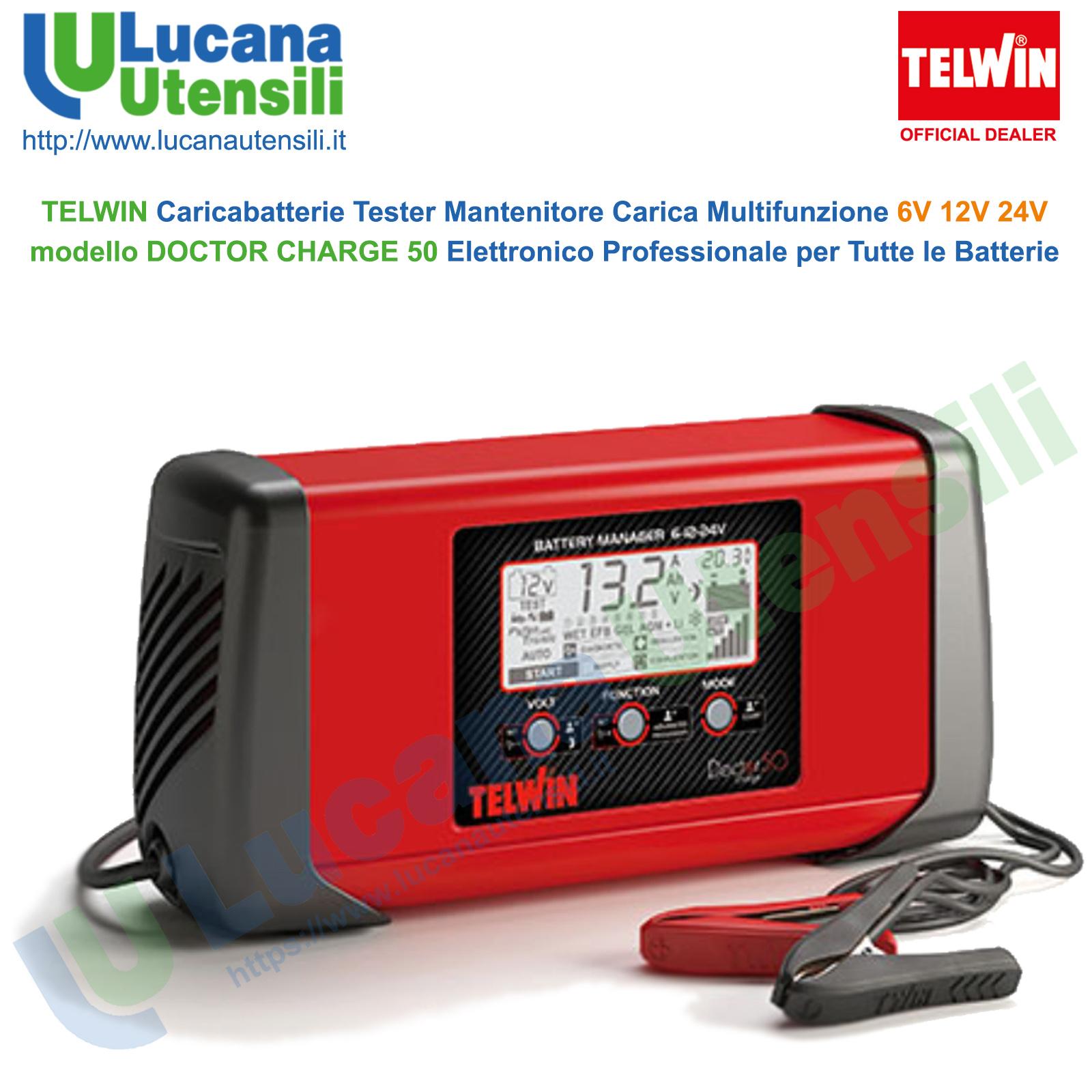 TELWIN DOCTOR START 630 230V 12V//24V CARICABATTERIE ELETTRONICO MULTIFUNZIONE
