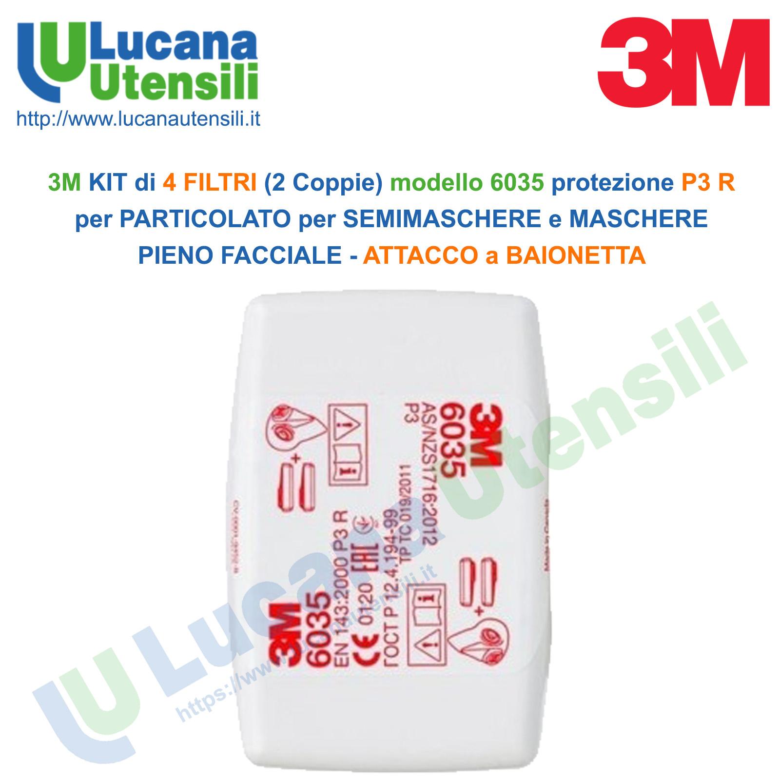 filtri maschera 3m p3