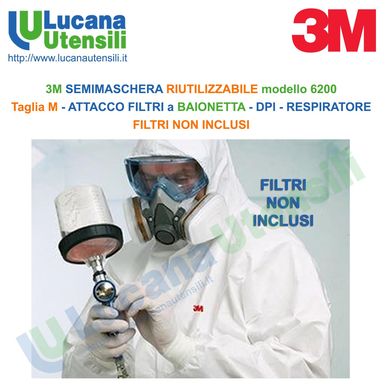 filtri 3m maschera 6200
